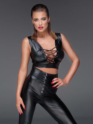 Top Powerwetlook top Negru